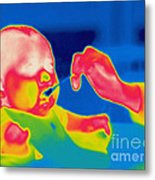 A Thermogram Of Feeding A Baby Metal Print
