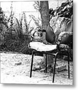 A Torn Chair Metal Print