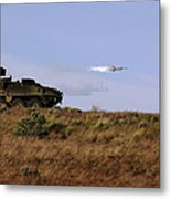 A Tow Missile Is Launched From An Metal Print