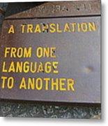 A Translation Metal Print