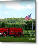 A Tribute To The Fireman Metal Print