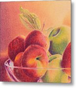 A Trip To The Orchard Metal Print by Elizabeth Dobbs