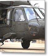 A Uh-60 Black Hawk Taxis Metal Print