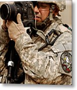 A U.s. Air Force Combat Cameraman Metal Print by Stocktrek Images