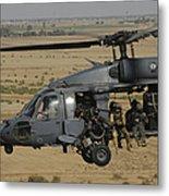 A U.s. Air Force Hh-60 Pavehawk Flies Metal Print