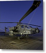 A U.s. Army Ah-64d Apache Helicopter Metal Print