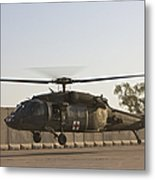 A U.s. Army Medevac Uh-60 Black Hawk Metal Print