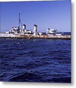 A U.s. Navy Deactivated Ship Sits Ready Metal Print