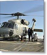 A U.s. Navy Sh-60b Seahawk Helicopter Metal Print