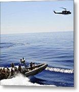 A U.s. Navy Uh-1n Huey Helicopter Metal Print
