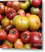 A Variety Of Fresh Tomatoes - 5d17840 Metal Print