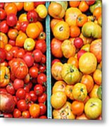 A Variety Of Fresh Tomatoes - 5d17904-long Metal Print by Wingsdomain Art and Photography