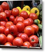 A Variety Of Fresh Tomatoes Zucchinis And Artichokes - 5d17818 Metal Print