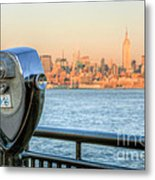 A View From New Jersey I Metal Print