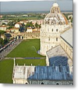 A View From The Bell Tower Of Pisa  Metal Print