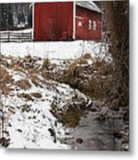 A View In Winter Metal Print