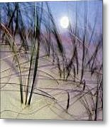 A View Of A Full Moon Rising Metal Print