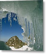 A View Of A Mountain Summit Metal Print