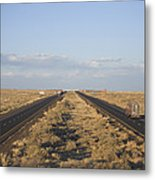 A View Of Interstate 40, Arizona Usa Metal Print