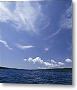 A View Of Lake Superior And Sky At Isle Metal Print