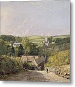 A View Of Osmington Village With The Church And Vicarage Metal Print