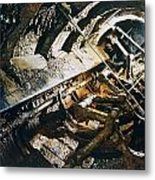 A View Of The Corroded Interior Metal Print