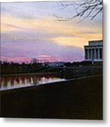 A View Of The Lincoln Memorial Metal Print