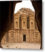 A View Of The Monastary In Petra Metal Print