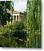A View Of The Parthenon 15 Metal Print