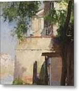 A View Of Venice From A Terrace Metal Print
