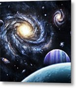A View To A Nearby Galaxy From A Gas Metal Print
