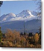 A View Toward Mt Shasta In Autumn Metal Print