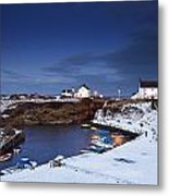 A Village On The Coast Seaton Sluice Metal Print
