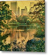 A Vintage Glimpse Of The Boating Lake Metal Print