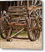 A Wagon And Wheels Metal Print