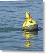 A Water Buoy In The Blue Water Of San Francisco Bay Metal Print