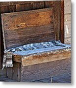 A Weathered Bench Metal Print