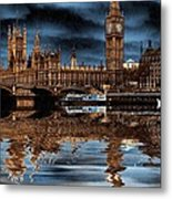 A Wet Day In London Metal Print