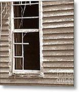 A Window Into The Past Metal Print