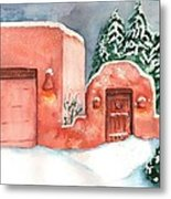 A Winter Clad Santa Fe Metal Print