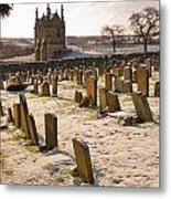 A Winter Graveyard Metal Print