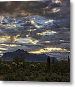 A Winter Sunrise In The Desert  Metal Print