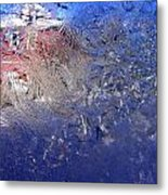 A Wintry Icy Window Metal Print