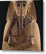 A Wooden Coffin Case Of The Pharaoh Metal Print