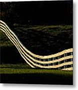 A Wooden Fence At The Shaker Village Metal Print