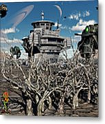 A World Stripped Bare From The Effects Metal Print