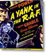 A Yank In The R.a.f., Tyrone Power Metal Print by Everett