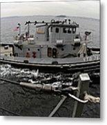 A Yokosuka Naval Tugboat Prepares Metal Print