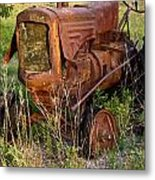 Abandonded Farm Tractor 1 Metal Print