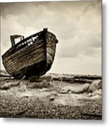 Abandoned At Dungeness Metal Print